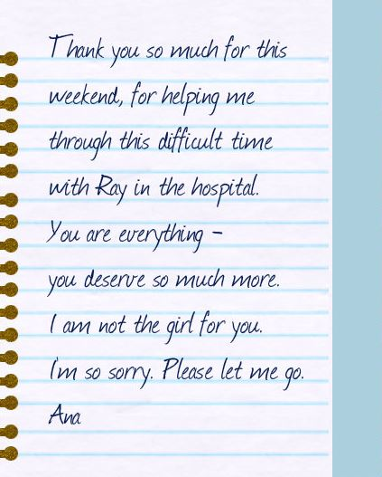 Ana leaving note