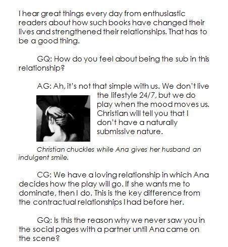 GQ Article | fifty shades of grey and more